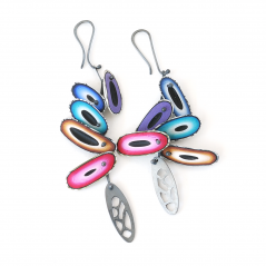 Chip Earrings (002) ,2014 ,polymer & sterling