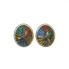 Button Earrings (079),2014 ,polymer & sterling