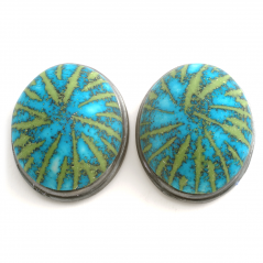 Button Earring (11),2010, polymer & sterling