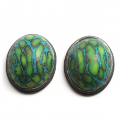 Button Earring (27),2011, polymer & sterling