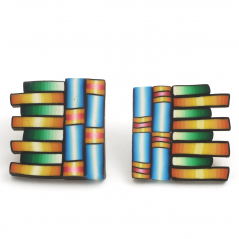 Cane Earring (9),1992, polymer