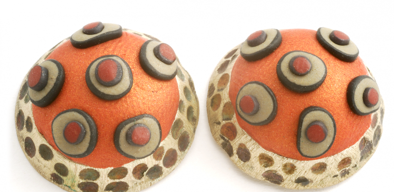 Dome Earring (1),2000, polymer & sterling