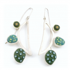 Pebble Earrings (100),2012, polymer & sterling