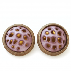 Swiss Earrings (3), 2006, polymer & sterling