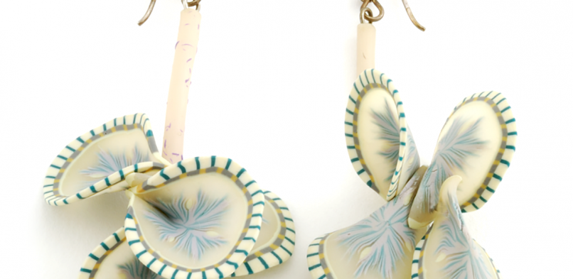 Vine Earrings (1),1995, polymer & sterling