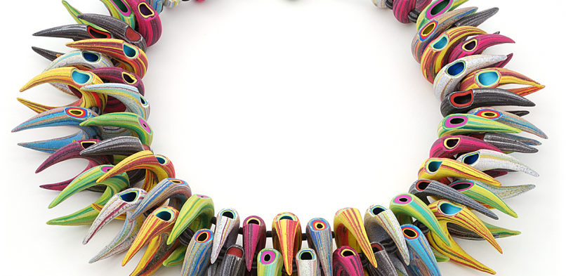 Tube Necklace (067),2014, polymer & sterling
