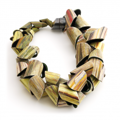 Tube Necklace (069),2014, polymer & sterling