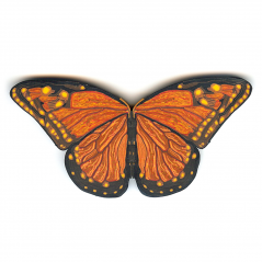 Butterfly Pin (3),1994, polymer