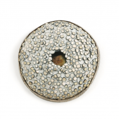 Center Pin (22),2002, polymer & sterling