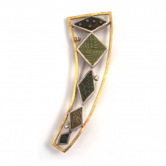 Diamond Pin (2),2006, polymer, sterling, 22K gold & diamonds