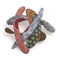 Family Pin (1),2003, polymer & sterling