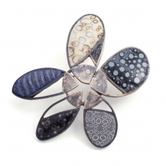 Flower Pin (20),2002, polymer & sterling
