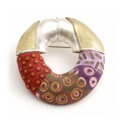 Hydro Pin (168), 2012,  polymer, sterling & gold leaf