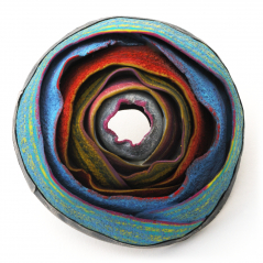 O'Keeffe Pin (125),2015, polymer & sterling