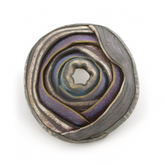 O'Keeffe Pin (15), 2008, polymer & sterling