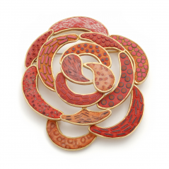 Rose Pin (5),2007, polymer & gold