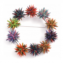 Thistle Pin (1),2006, polymer & sterling