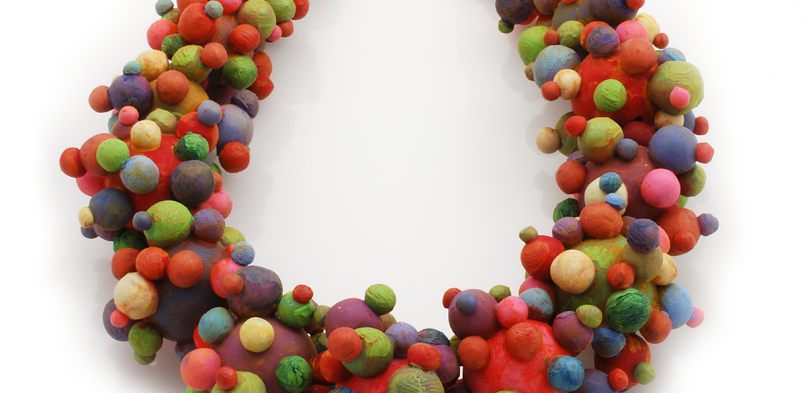 Bubble Necklace (1), 2003, polymer & sterling