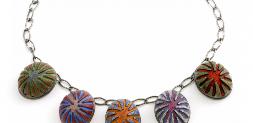 Button Necklace (4), 2010, polymer & sterling