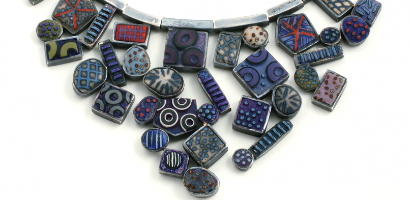 Cascade Necklace (6), 2009, polymer & sterling