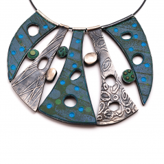 Cascade Necklace (9), 2013, polymer & sterling