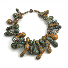 Gourd Necklace (1), 2003, polymer & sterling