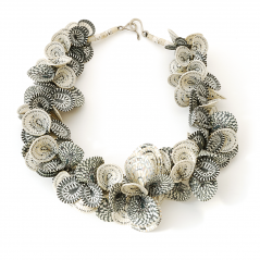 Shell Necklace (5), 1992, polymer & sterling