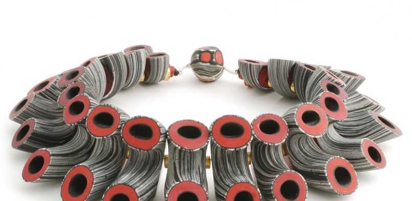 Tube Necklace (9), 2011, polymer & sterling