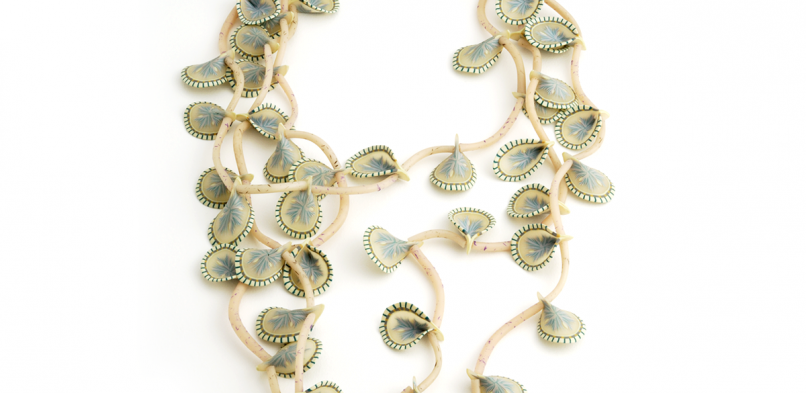 Vine Necklace (2), 1995, polymer & sterling