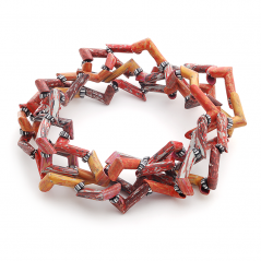 Tube Necklace (082), 2015, polymer, 1/2 x 3/4 x 94″, $5000.