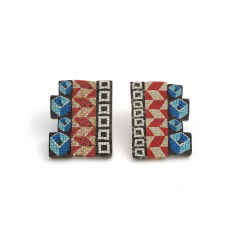 Cane Earrings (015),1994, polymer