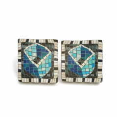 Cane Earrings (029),1994, polymer