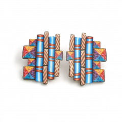 Cane Earrings (047),1997, polymer