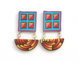 Cane Earrings (051),1993