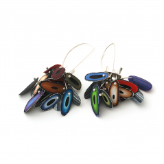 Chip Earrings (010), 2015, polymer & sterling