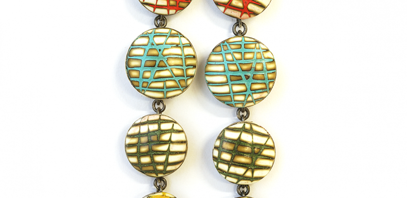 Satellite Earrings (036), 2014, polymer & sterling