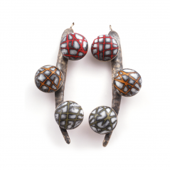 Spike Earrings (005),2009, polymer & sterling
