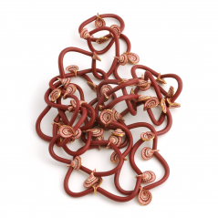 Vine Necklace, (001),1995, polymer