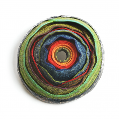 O'Keeffe Pin (163), 2017, polymer & sterling